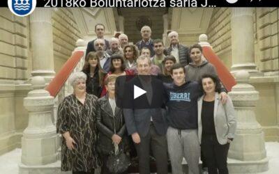 Acto de entrega del Premio al Voluntariado de Gipuzkoa 2018 (Vídeo)