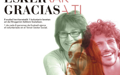 «Zuri esker-rak» ;  «Gracias -a ti-«. Campaña de agradecimiento al voluntariado en Euskadi.
