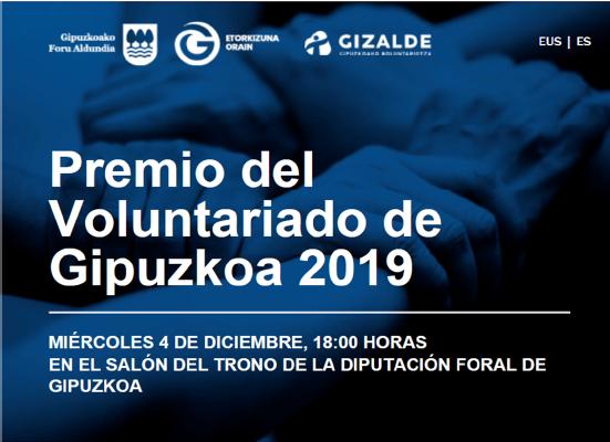Premio del voluntariado de Gipuzkoa 2019. Vídeo del acto de entrega del premio