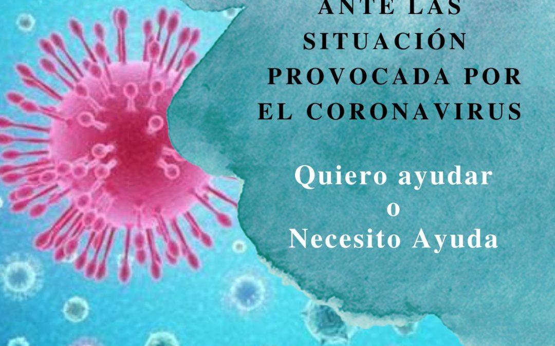 Iniciativas de apoyo a personas en situación de vulnerabilidad por la situación provocada por el coronavirus.