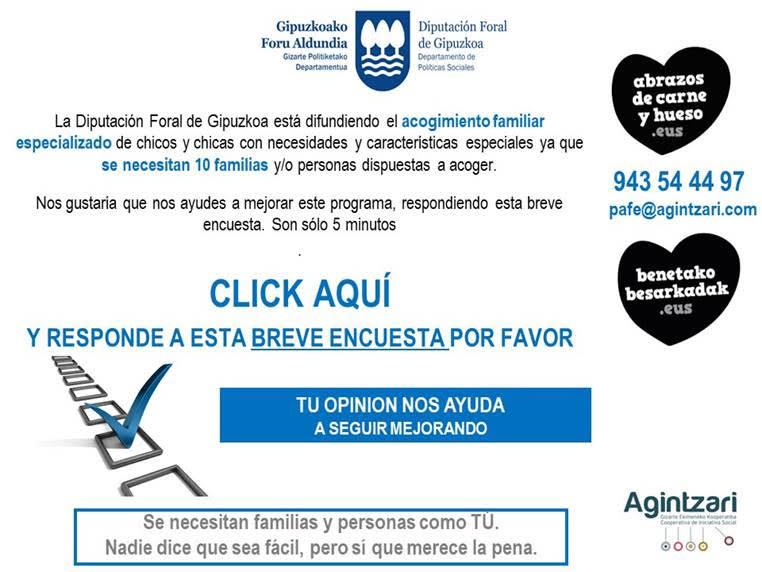 Programa de Acogimiento Familiar Especializado en Gipuzkoa.