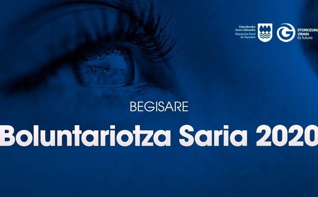 Begisare elkarteak jaso du 2020ko Gipuzkoako Boluntariotzaren Saria. Sari banaketa ekitaldiaren bideoa ikusi dezakezu.